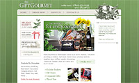 The Gift Gourmet, web design