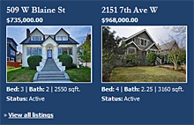 web site with mls listings